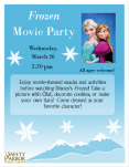 frozen movie party