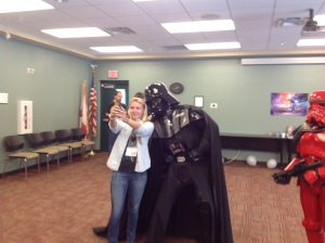 Even Darth Vader enjoys the occasional selfie.