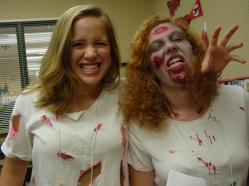 Zombie teen volunteers!